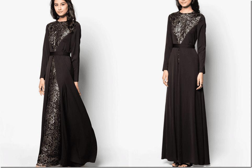 black-high-neck-floral-applique-lace-maxi-dress