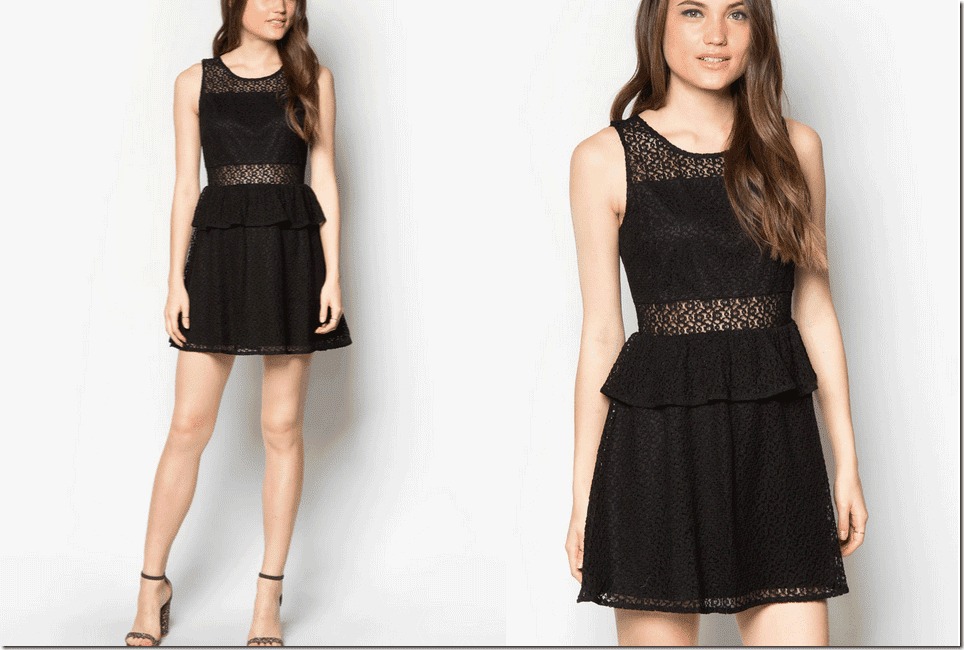black-lace-peplum-dress