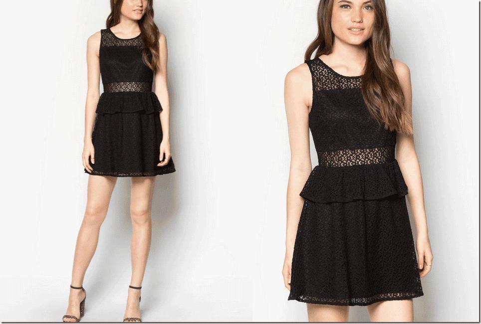 black-lace-peplum-dress