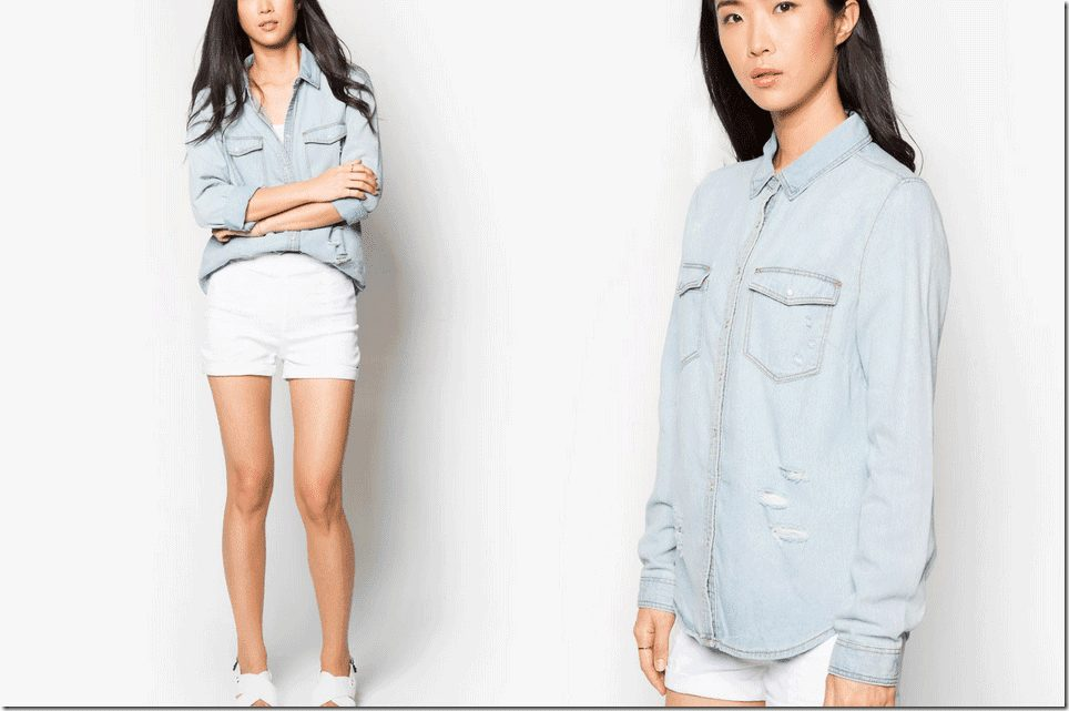 bleach-wash-denim-shirt