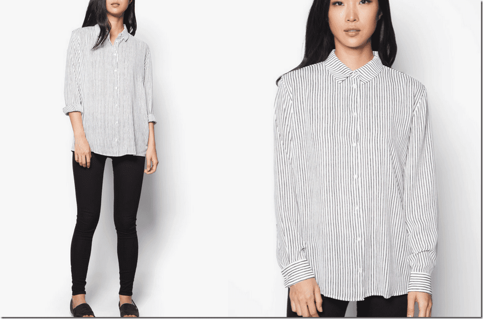 collared-striped-flowy-shirt