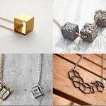 Fashionista NOW: Geometric Cube Necklace Fashion Inspiration