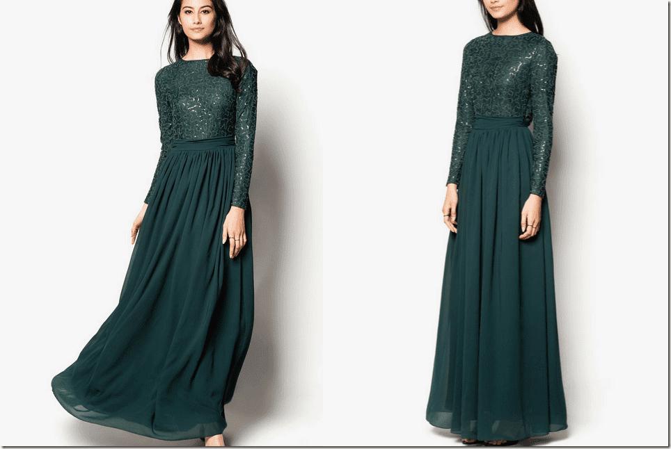deep-green-lace-chiffon-maxi-dress