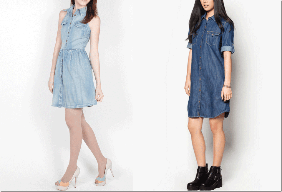 7 Chic Denim Dresses Fashion Inspiration