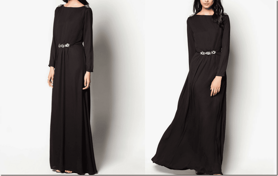embellished-black-fit-and-flare-maxi-dress