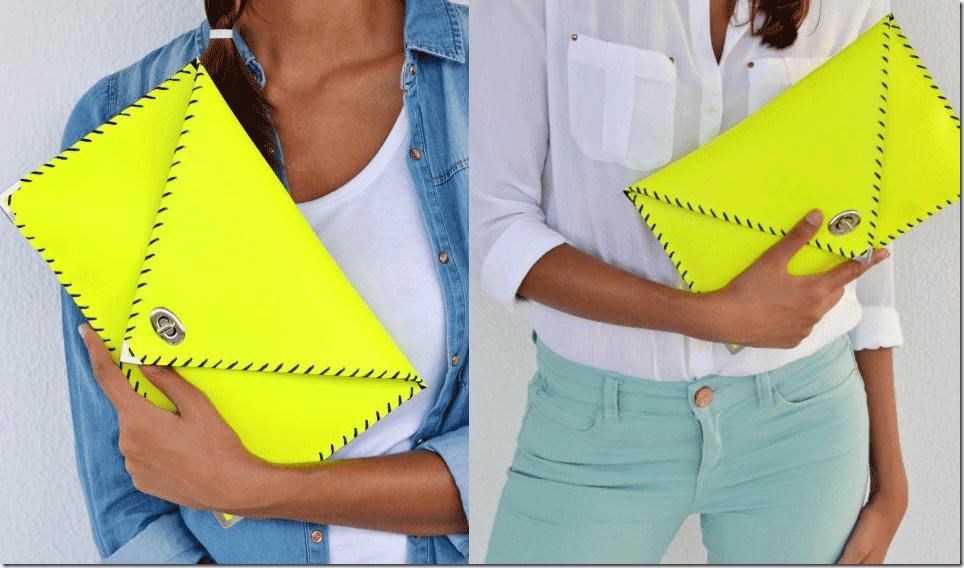 fluorescent-yellow-italian-leather-clutch