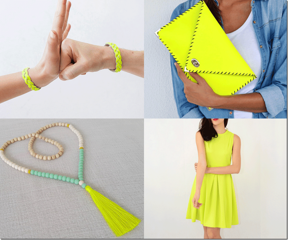 Fluorescent Yellow Fashion Inspiration