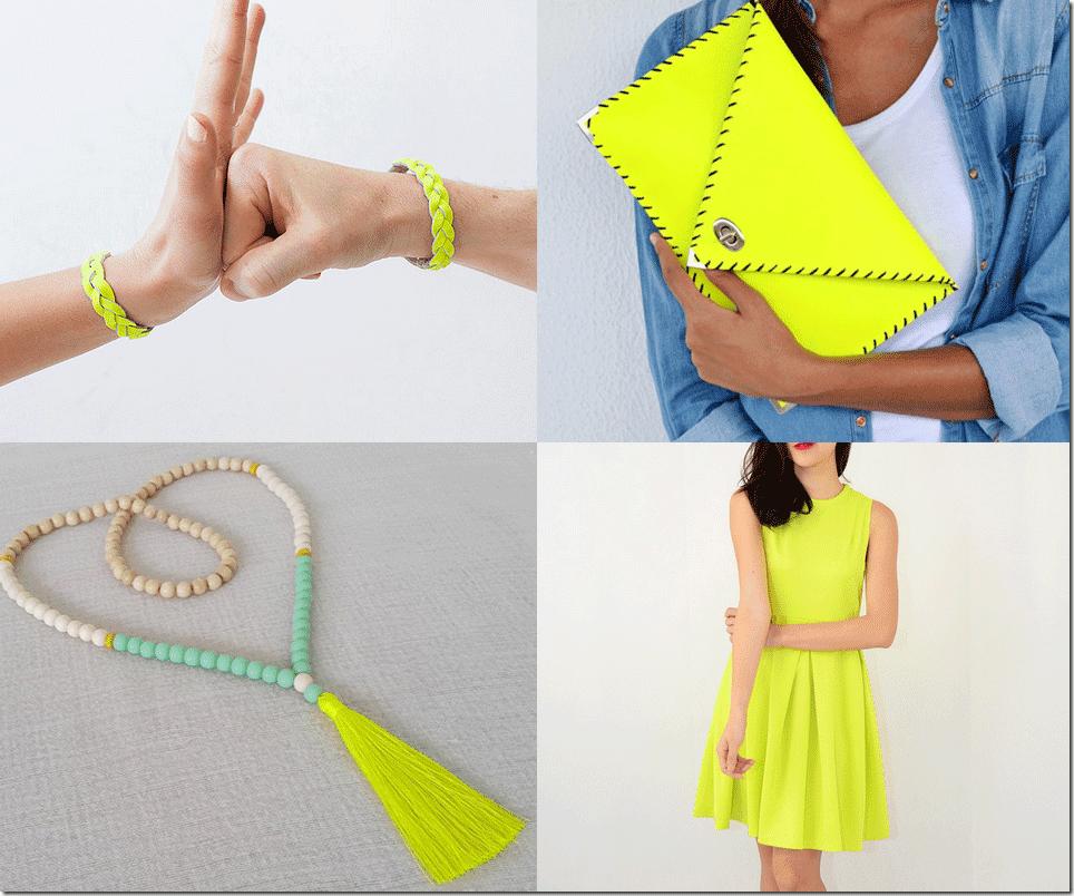 Fluorescent Yellow Fashion Inspiration