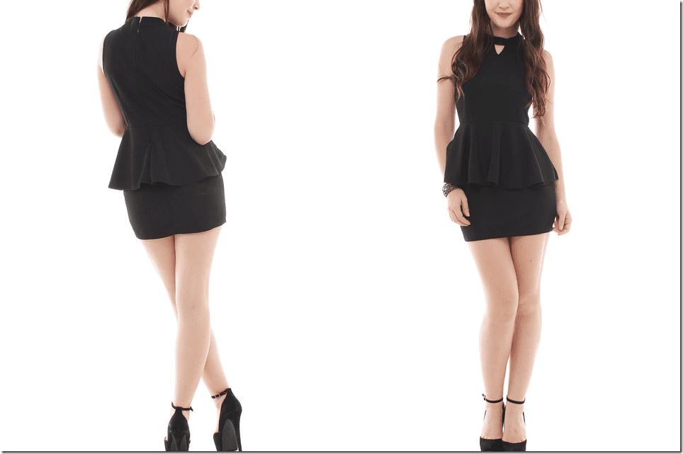 halter-neck-black-peplum-dress