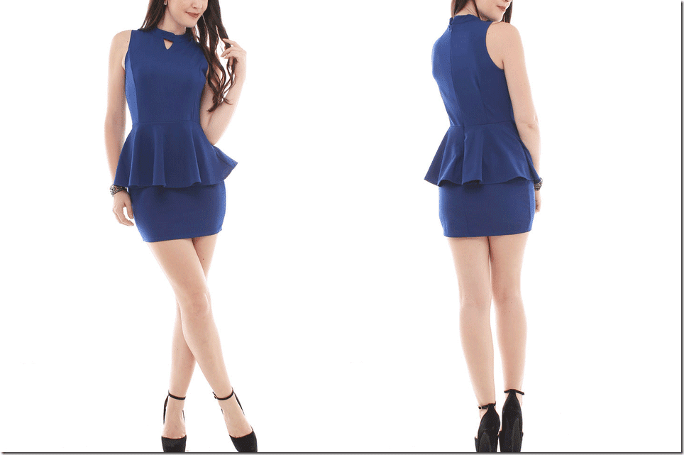 halter-neck-blue-peplum-dress