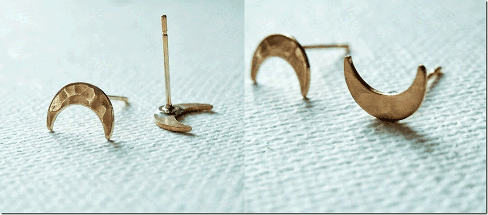 hammered-brass-crescent-moon-earrings