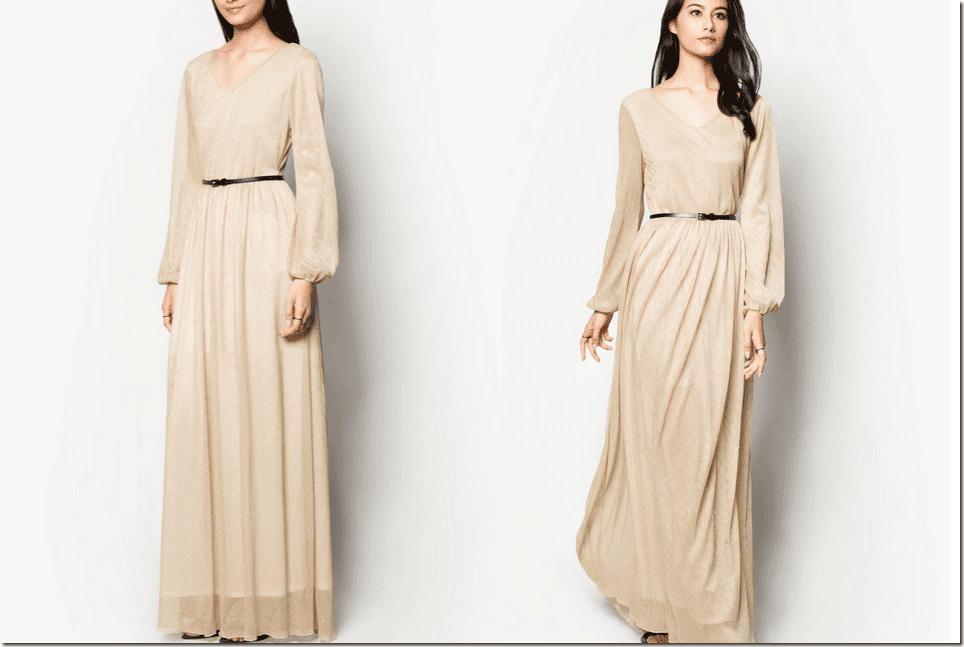 metallic-champagne-pleated-maxi-dress