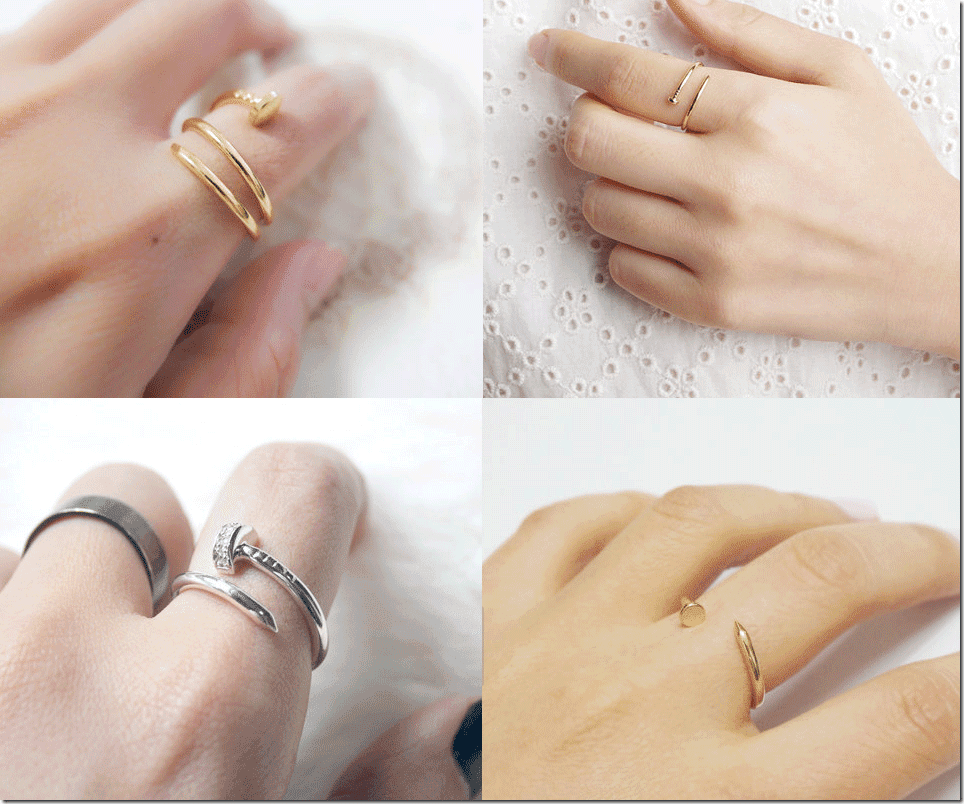 Minimalist Twisted Nail Rings Fashion Inspiration