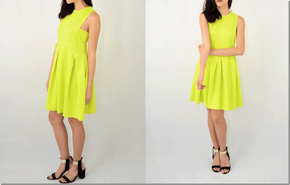 neon-yellow-skater-dress