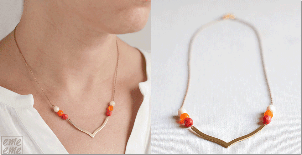 orange-brass-dainty-chevron-necklace
