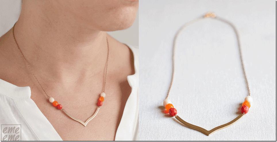 orange-brass-dainty-chevron-necklace