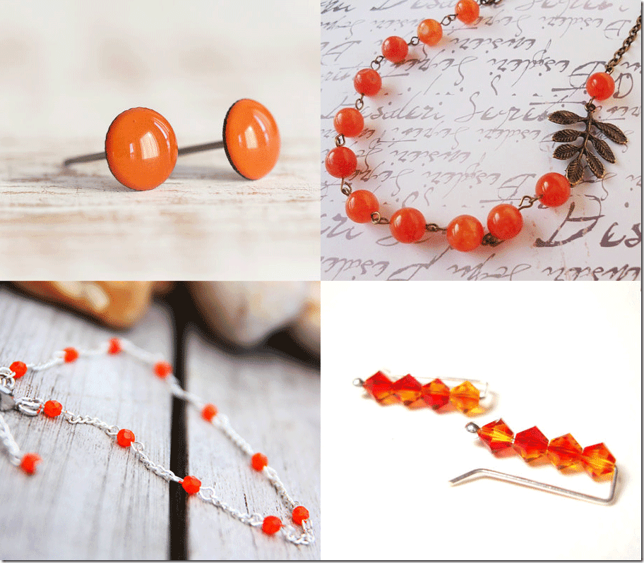 7 Cadmium Orange Inspired Jewelry Fashion Inspiration