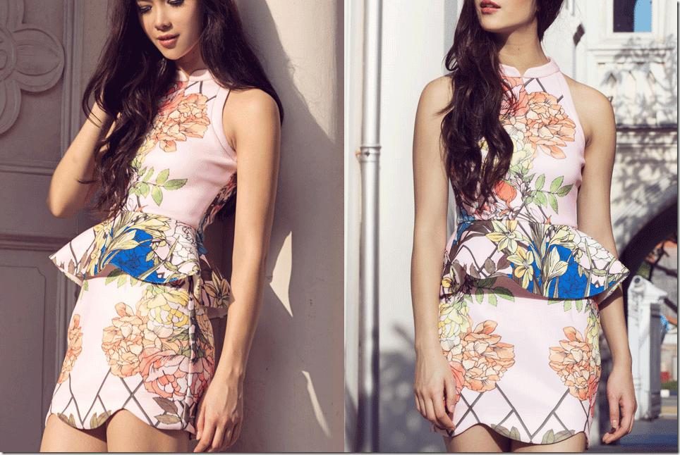 pink-floral-peplum-dress
