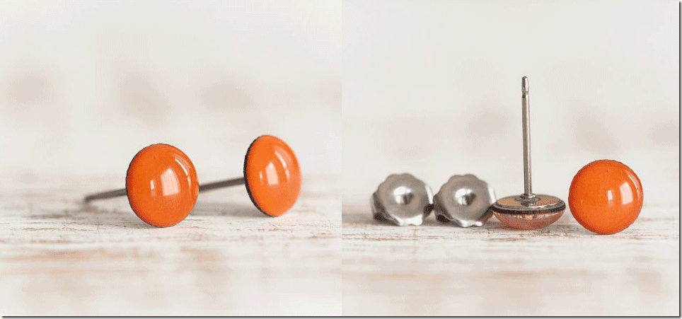 pumpkin-orange-titanium-stud-earrings