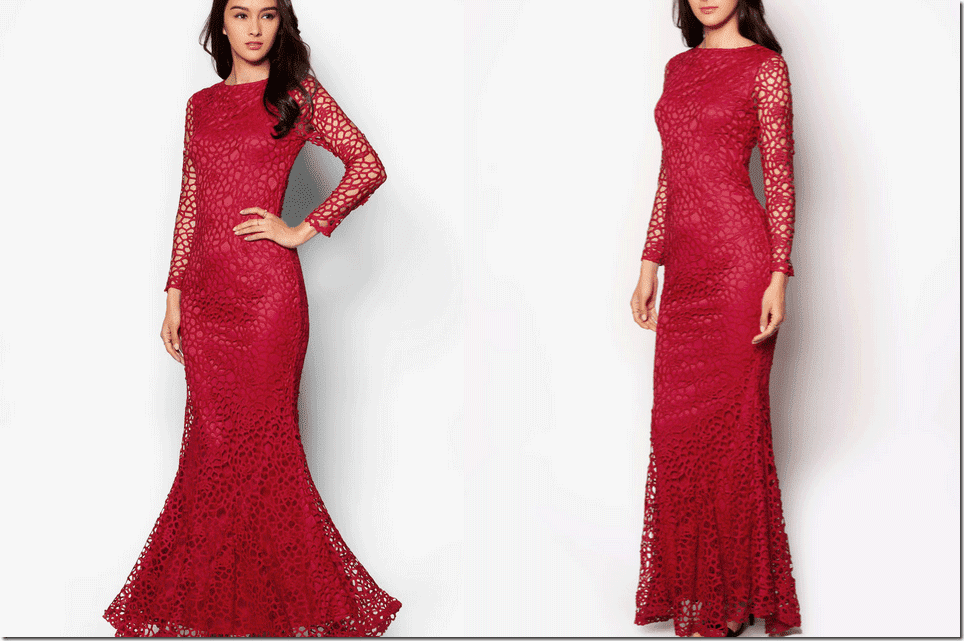 red-floral-crochet-maxi-mermaid-dress