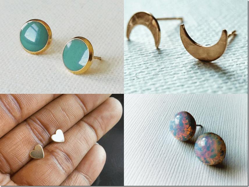 Handmade Stud Earrings By AHoleyMoleyLyfe Review Jewelry Inspiration