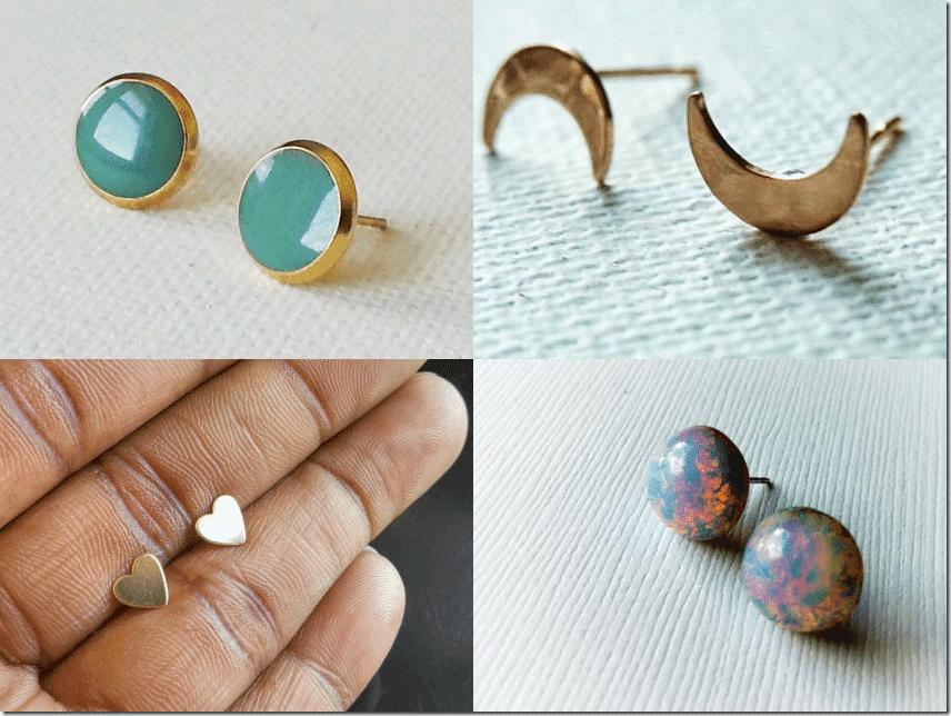 Handmade Stud Earrings By AHoleyMoleyLyfe Review Jewelry Inspiration