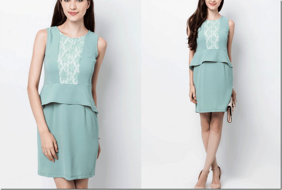 turquoise-front-lace-peplum-dress