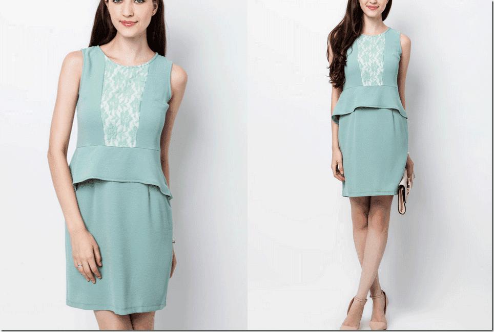turquoise-front-lace-peplum-dress