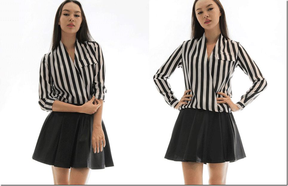 vertical-striped-wrap-blouse