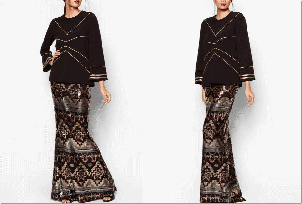 black-art-deco-inspired-baju-kurung