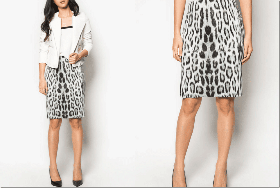 black-white-leopard-bodycon-skirt