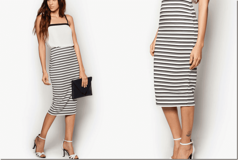 black-white-striped-midi-pencil-skirt