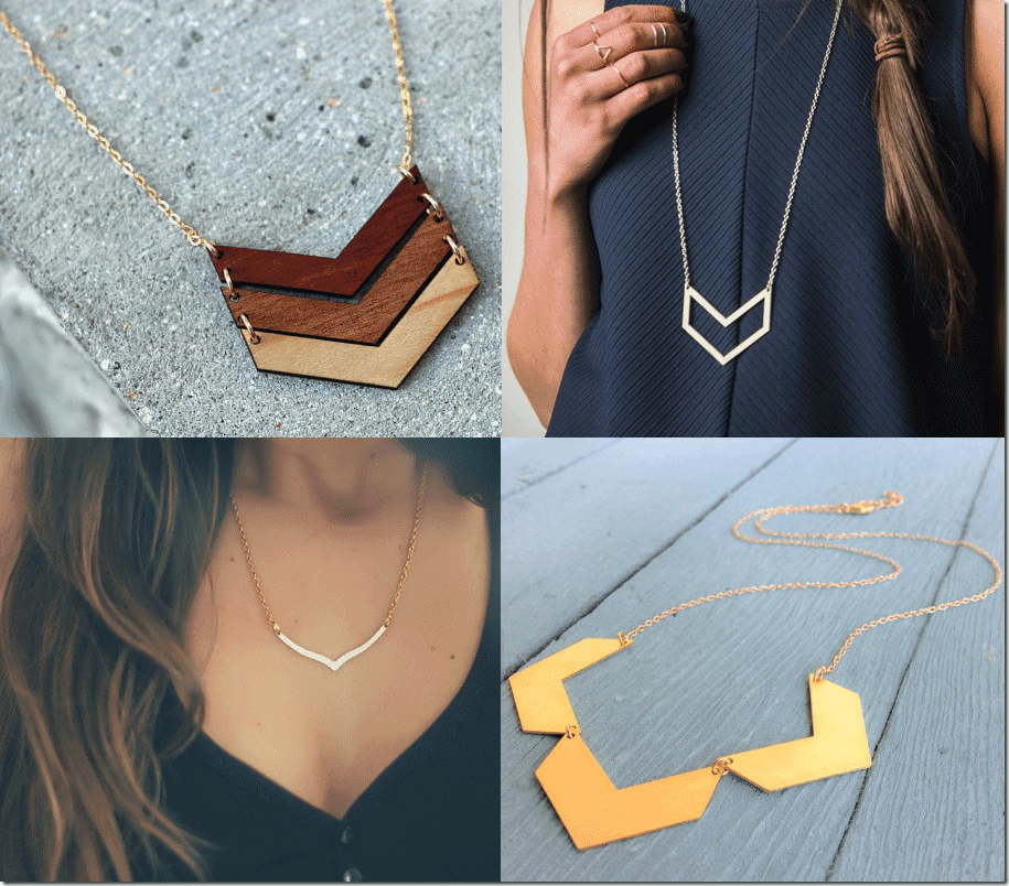 7 Chevron Necklaces Jewelry Fashion Inspiration