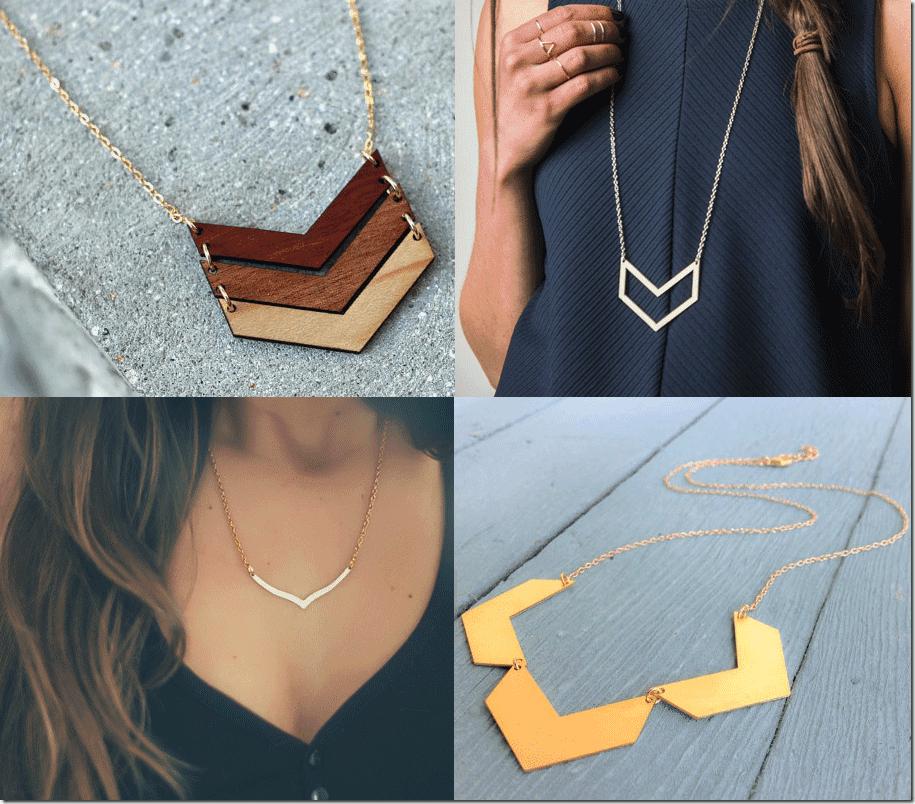 7 Chevron Necklaces Jewelry Fashion Inspiration