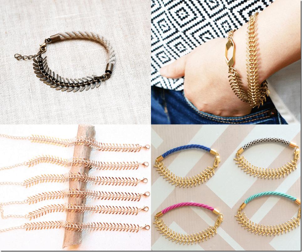 7 Fishbone Chain Bracelets Jewelry Fashion Inspiration
