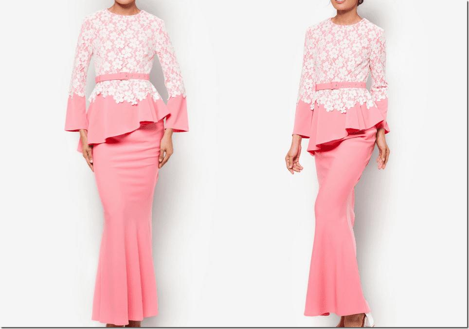 crochet-pink-peplum-mermaid-baju-kurung