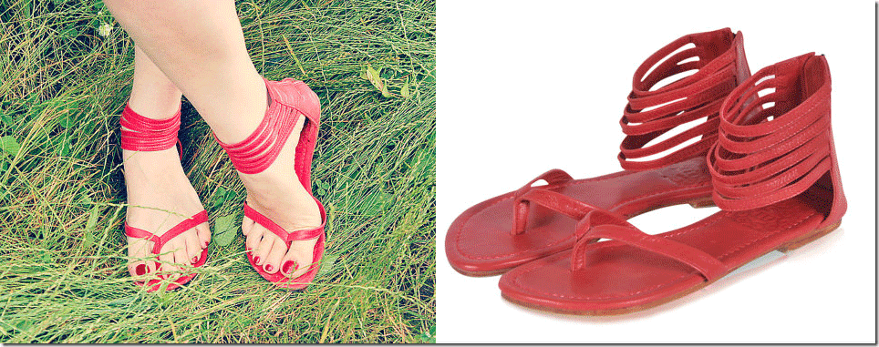 deep-red-flat-leather-sandals