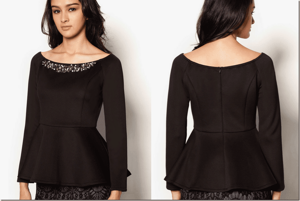 embellished-black-peplum-top