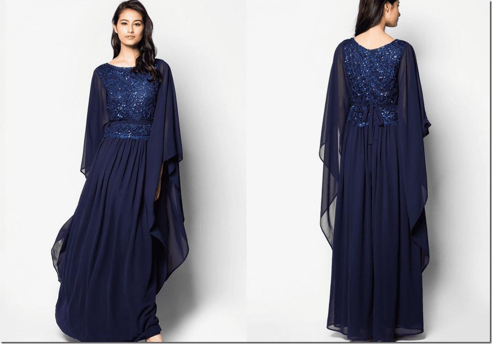 embellished-navy-kaftan-dress