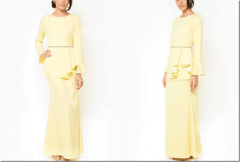 embellished-peplum-waist-yellow-baju-kurung