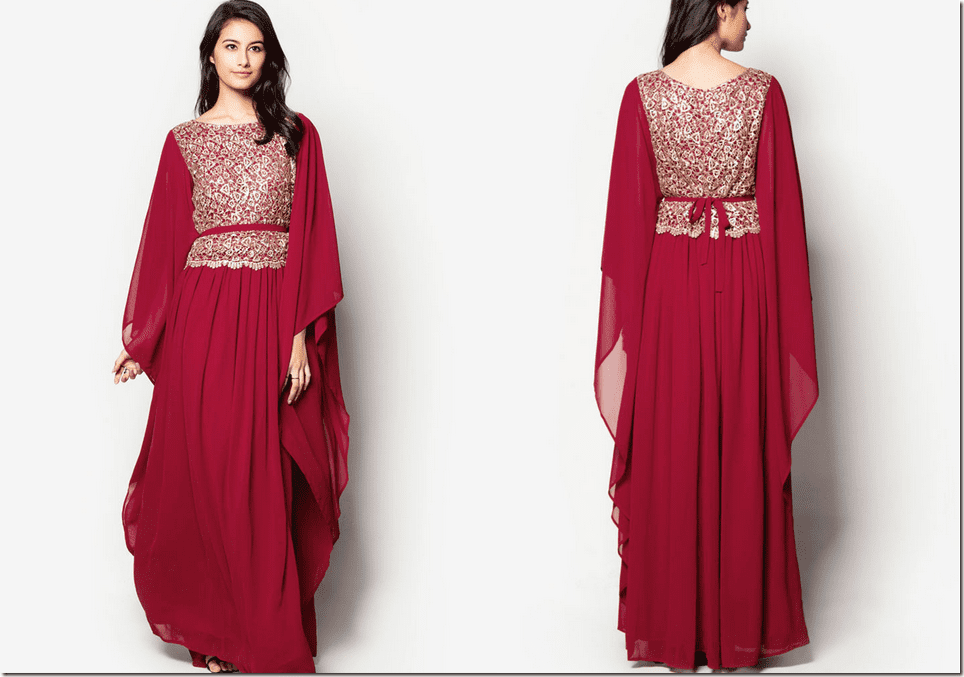 embellished-red-kaftan-dress