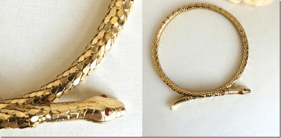 flexible-vintage-gold-snake-choker-necklace