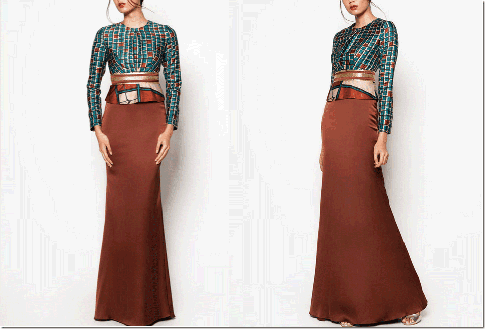 geometric-peplum-dress