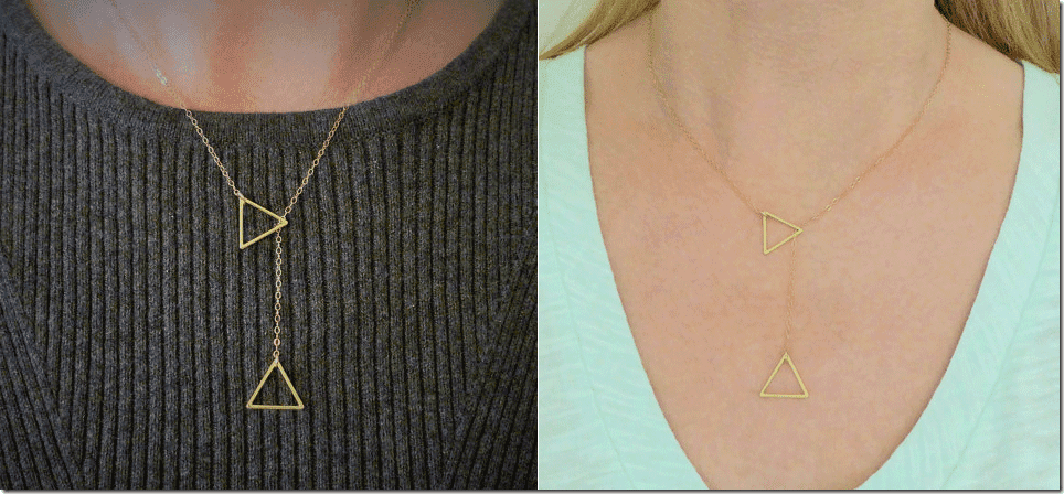 gold-double-triangle-lariat-necklace