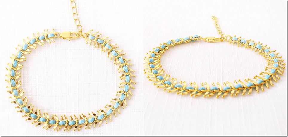 gold-fishbone-chain-blue-weave-bracelet