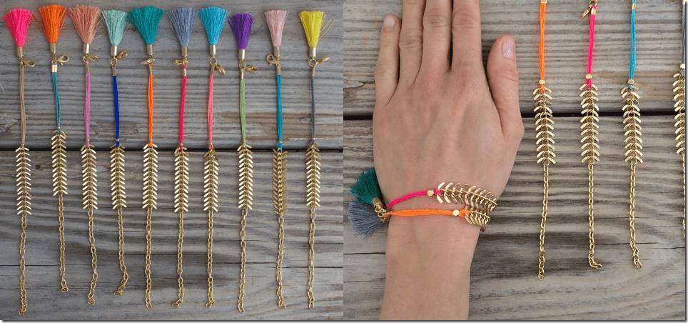 gold-fishbone-colored-tassel-bracelet