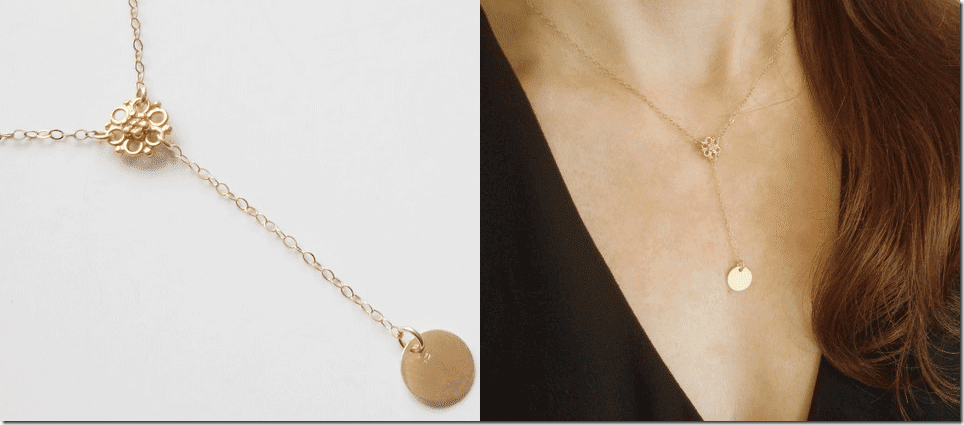 gold-flower-coin-charm-lariat-necklace