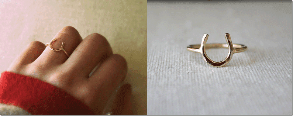 gold-hammered-horseshoe-ring