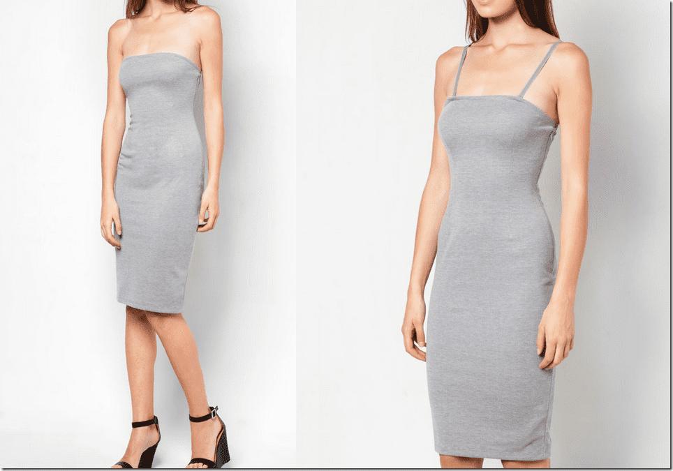grey-bandeau-midi-dress