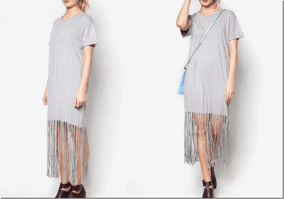 grey-casual-fringe-dress